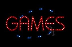 LED Games Signs
