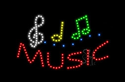 LED Music & Instruments Signs