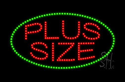 LED Plus Size Signs